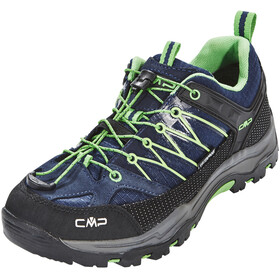 CMP Campagnolo Junior Rigel Low WP Trekking Shoes Black Blue-Gecko